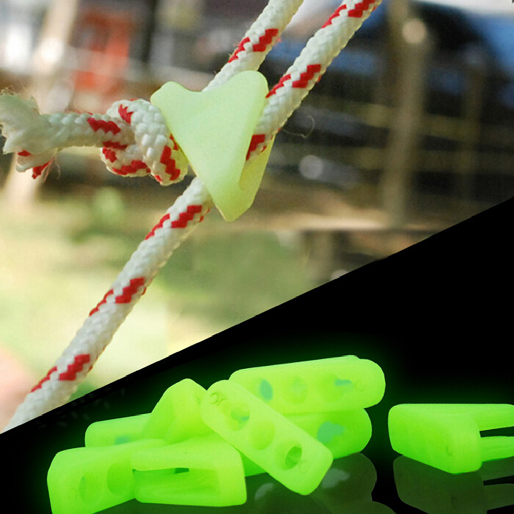 Sports & Entertainment Tent Accessories High Quality Outdoor Luminous Rope Buckle Tent Triangle Buckle Safety Alert Buckle 10 Pcs