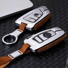 High Quality Car Suede Leather Key Holder Cover For BMW X1 X3 X4 X5 X6 E90 E60 E36 E93 F15 F16 F48 G30 F11 F30 Key Case For Car