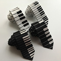 Unique Design Musical Ties with Piano Keyboard Mens Necktie FREE SHIPPING