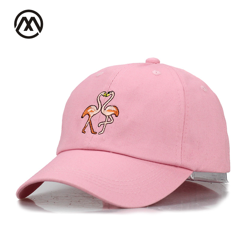New Fashion Flamingo Baseball Cap Hip Hop Snapback Hat For Women Men Couples Bone Cotton  Embroidery Casquette 2017 Golf Dad Hat discount hot wholesale boy girl kid fashion hip hop snapback hat embroidery character style active novelty children baseball cap