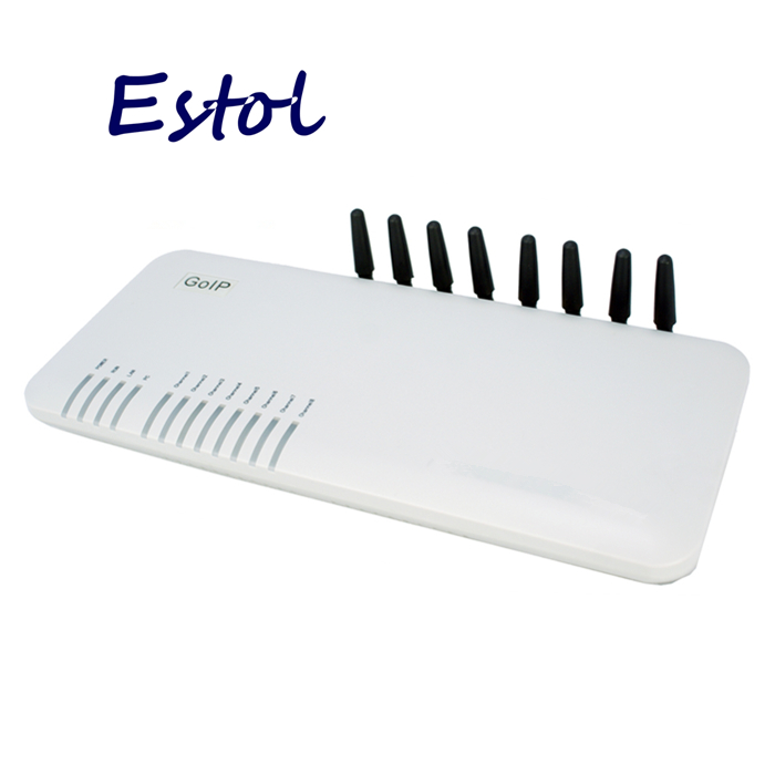 Wholesale 8 Channels DBL GOIP8 GSM VOIP gateway for termination Support VPN IMEI change SMS SIM