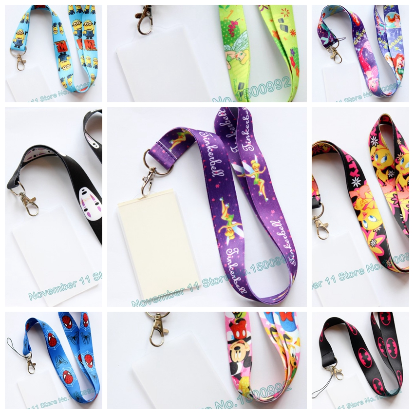 New 1Pcs Cartoon Lanyard ID Badge Holder Key Neck Strap Kids Gifts QW-474
