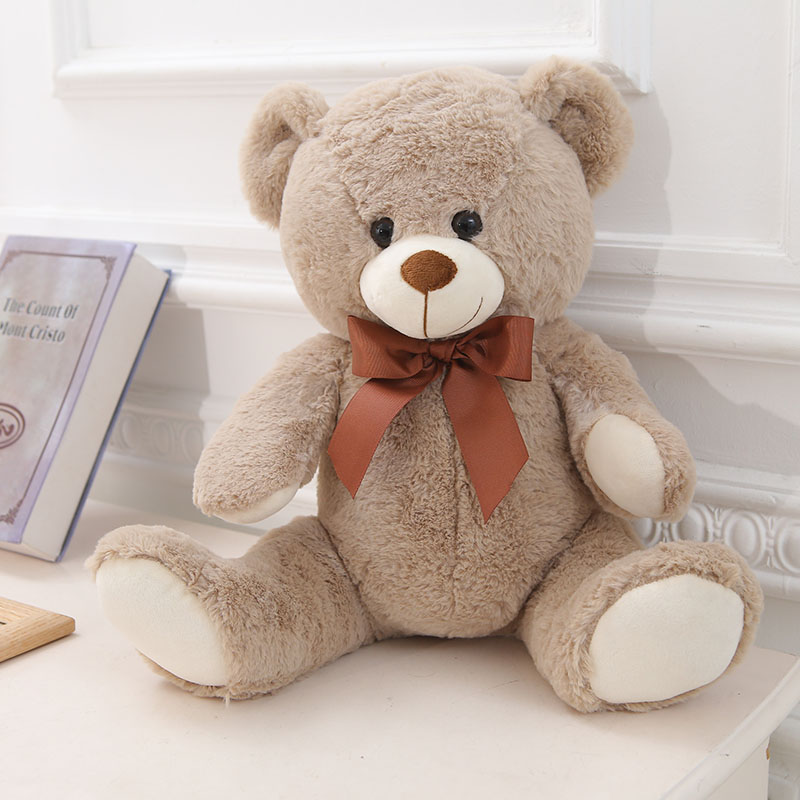 25cm 40cm 45cm Cute Plush Teddy Bears Stuffed Animals Bear Dolls with Bowtie Kids Toys for Children Birthday Gifts hot sale cute dolls 60cm oblong animals pillow panda stuffed nanoparticle elephant plush toys rabbit cushion birthday gift