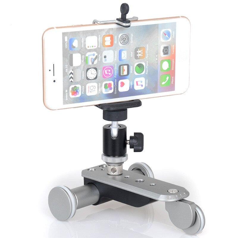 Rail de voie vidéo 3 roues DOITOP avec tête de trépied pour appareil photo reflex numérique caméscope téléphones portables Smart photographie électrique voiture à glissière