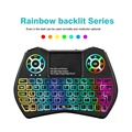 Беспроводная мини-клавиатура i9 Plus  2 4 ГГц  3 цвета  Bluetooth  клавиатура с воздушной мышкой  игровой тачпад для Android  ТВ-приставки  ноутбука