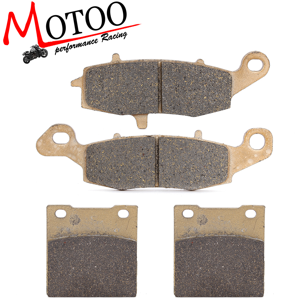 Motoo - Motorcycle Front and Rear Brake Pads For Suzuki GS500F GS500 2004-2014 motoo motorcycle front and rear brake pads for honda xrv750 africa twin 1994 2003
