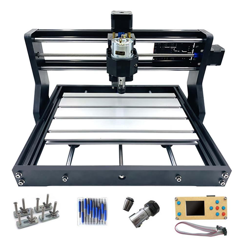 Bricolage Mini CNC 3018 Pro + CNC hors ligne Machine de gravure Laser bois acrylique sculpture sur bois routeur/gravure Laser/métal sculpté