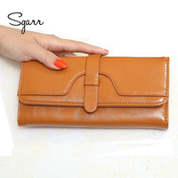 SGARR 2018 New Black Women Wallet Phone Bag Case Fashion Lady Women Leather Wallet Long Card