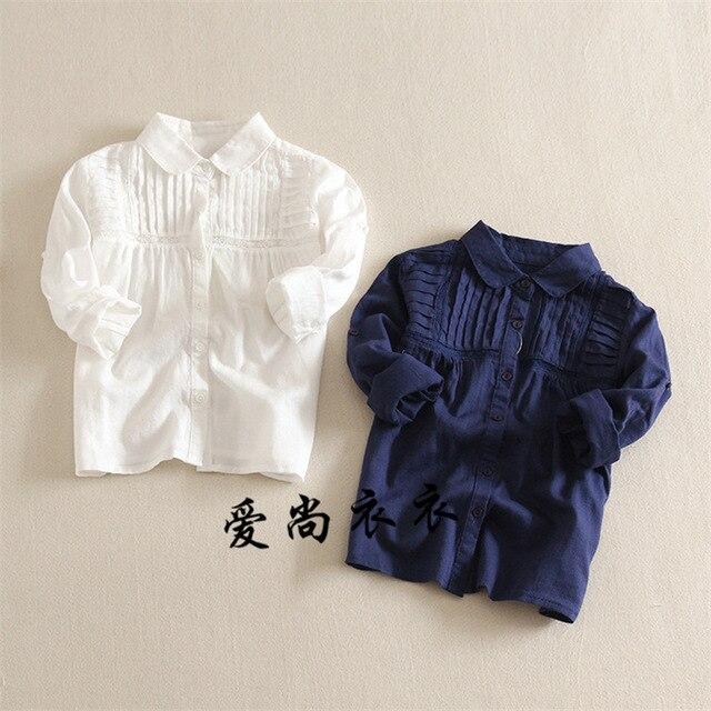 3 Цвет Детские груди кластера вислоухая рубашка Девушки Кукла воротник Принцесса Длинным рукавом Дети оптовая