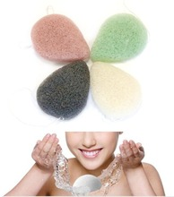 10pcs/lot Flutter Wash Cosmetic Sponge Natural Konjac Cleansing Puff Bamboo Charcoal Flapping Wet