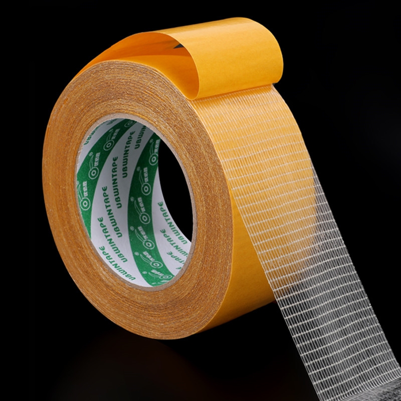 Super Glue High Strength Fiber Double-sided Tape Grid Two-sided Agglutination Into Rubber Rough Doors And Windows Sealed