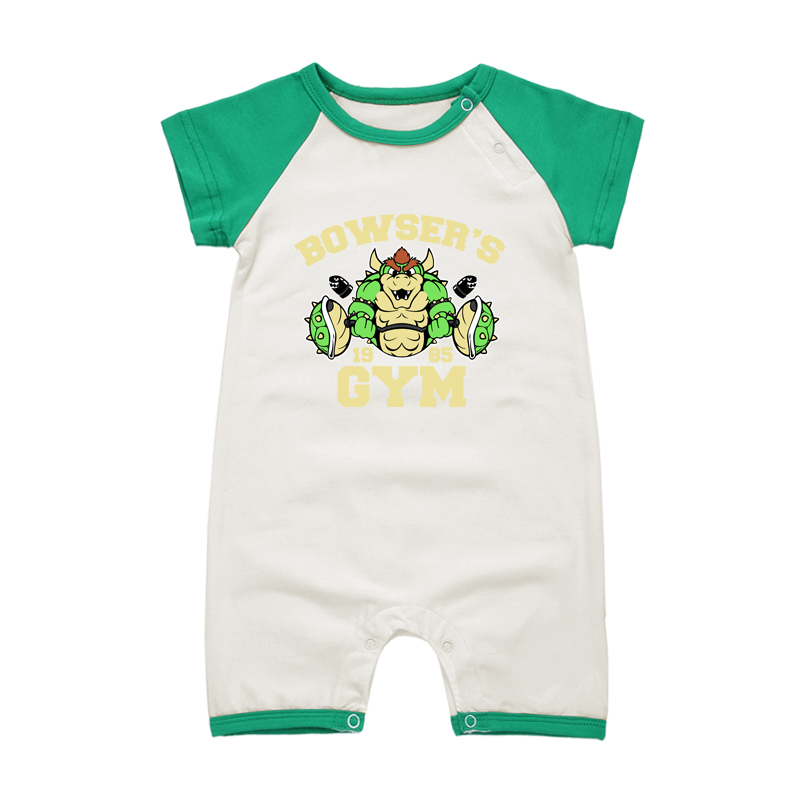2018 Summer Short Sleeve Baby Rompers Super Mario Bowser Baby Boys Girls costume Jumpsuits Roupas Bebes Newborn Infant Clothes(China)