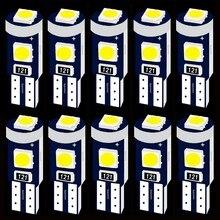 10 sztuk T5 18 37 70 73 74 79 86 Super Bright 3 SMD 3030 LED deska rozdzielcza samochodu ocieplenie wskaźnik klinowa żarówka narzędzie samochodowe lampa
