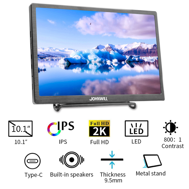 10.1 inch HD 2K touch screen Gaming monitor pc small portable LCD Display IPS 2560*1600 Type C 4