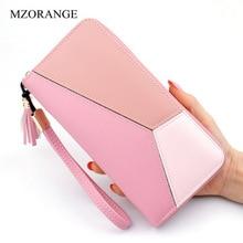 MZORANGE Purse tassel wallet female famous brand card holders cellphone pocket PU leather women money bag clutch women wallet