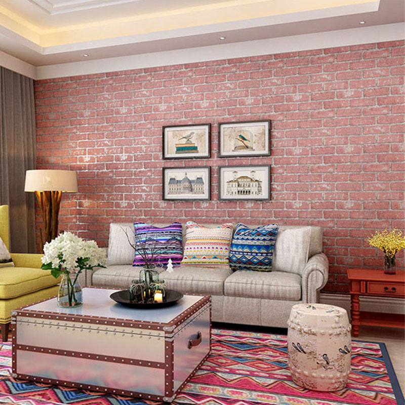 Colorful Living Room Stone Wall Elaboration - Living Room Designs ...