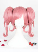 Mthrough Makina Nakajima Cosplay perruque rose cheveux synthétiques queues de cheval Halloween adulte Cosplay cheveux(China)