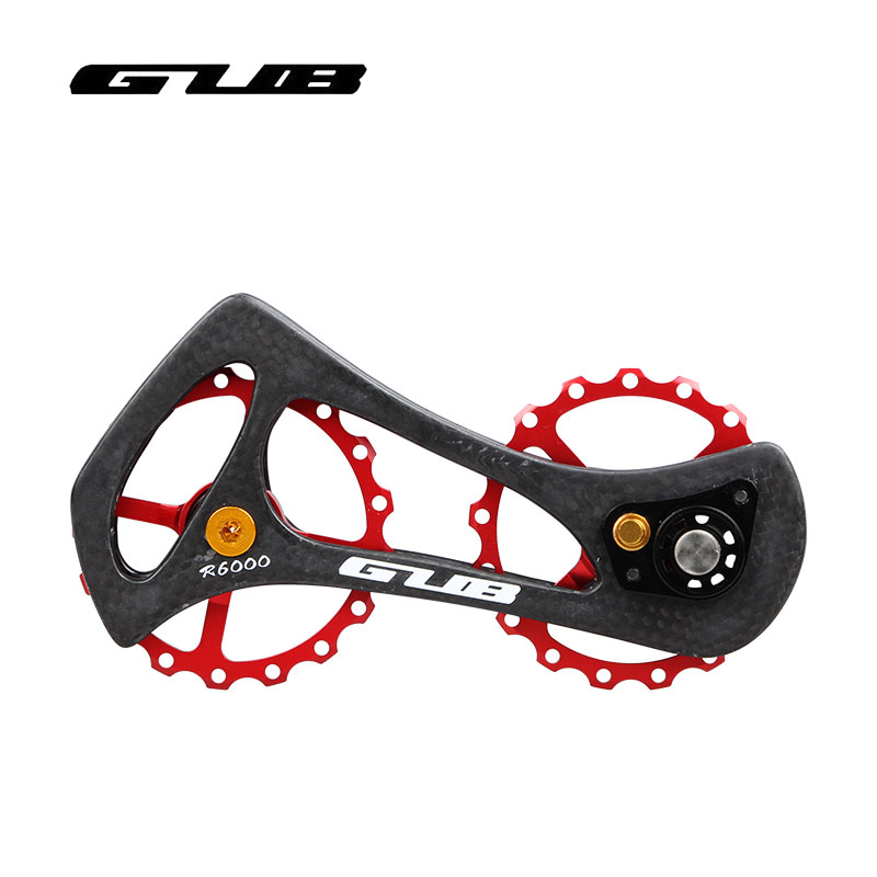 GUB R6000/R8000 17T Road Bike Rear Dial Guide Pulley Ultralight Bicycle Ceramic Bearing Carbon Fiber Jockey Wheel Cycling Parts west biking bike chain wheel 39 53t bicycle crank 170 175mm fit speed 9 mtb road bike cycling bicycle crank