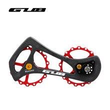 GUB R6000 R8000 17T Road Bike Rear Dial Guide Pulley Ultralight Bicycle Ceramic Bearing Carbon Fiber