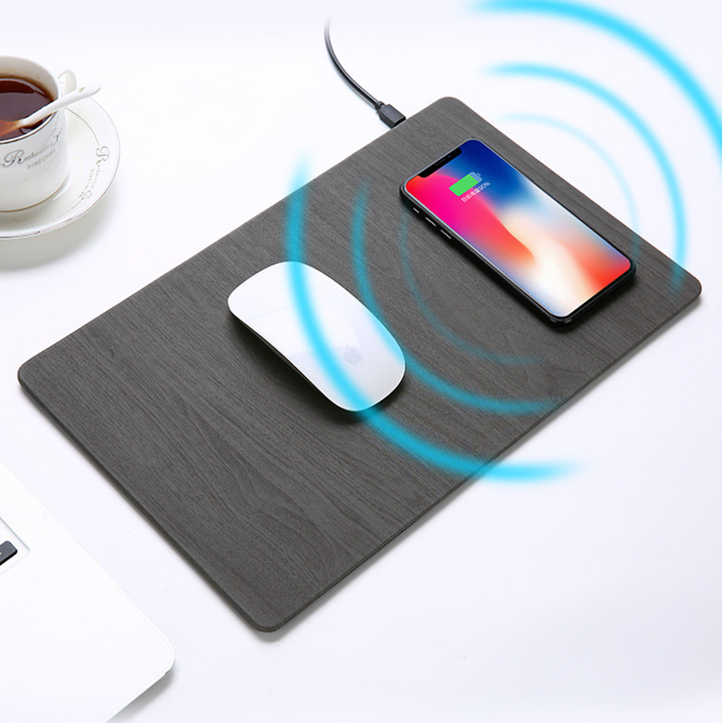 Mouse Pad Qi Wireless Charger Mat for Apple iPhone X 8
