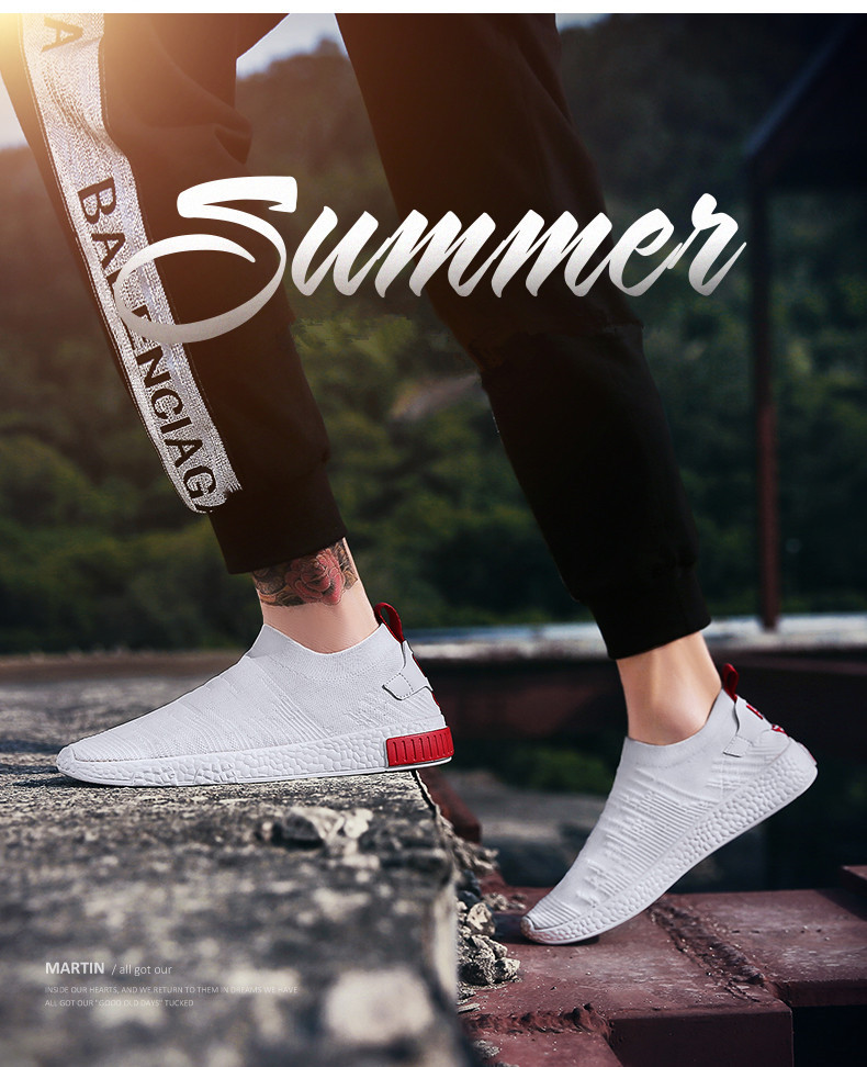 HTB1Skg6qIuYBuNkSmRyq6AA3pXa0 Thin Shoes For Summer White Shoes Men Sneakers Teen Shoes Without Lace Trend 2019 New Feel Socks Shoes tenis masculino chaussure
