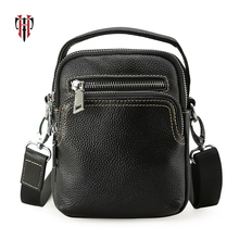 TIANHOO Mini 100% genuine leather messenger bag shoulder & handle man bags cowwide layer leather PAD/cellphone wallet for men