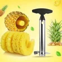 Нержавеющая сталь инструмент для очистки ананасов резак для резки нож для удаления сердцевины и нарезания кожуры Core инструмент для фруктов и овощей, нож, съемник лезвия гаджет Кухня инструменты