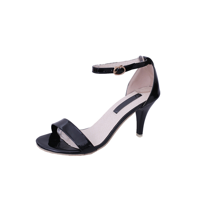 2019 New Summer Shoes Women Sandals High Heels Pumps Sexy Black Ankle Strap Sandals Female High Heels Sandals Stiletto Open Toe2019 New Summer Shoes Women Sandals High Heels Pumps Sexy Black Ankle Strap Sandals Female High Heels Sandals Stiletto Open Toe