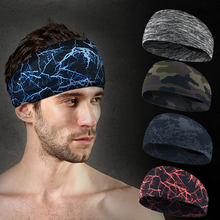 2019 New Hot Style Absorbent Cycling Yoga Sport Sweat Headband Sweatband For Men and Women Yoga Hair Bands Head Sweat Bands(China)