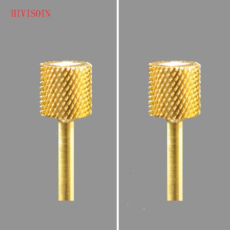 2PCS HIVISOIN Carbide Nail Drill Bit -  4-Week Backfill Bit  M  (Gold)