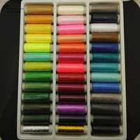 24/39/64roll/lot,Mixed Color Polyester/cotton sewing Thread Box Set,DIY Sewing Kit For Hand Machine Needles Set Sewing tools Kit