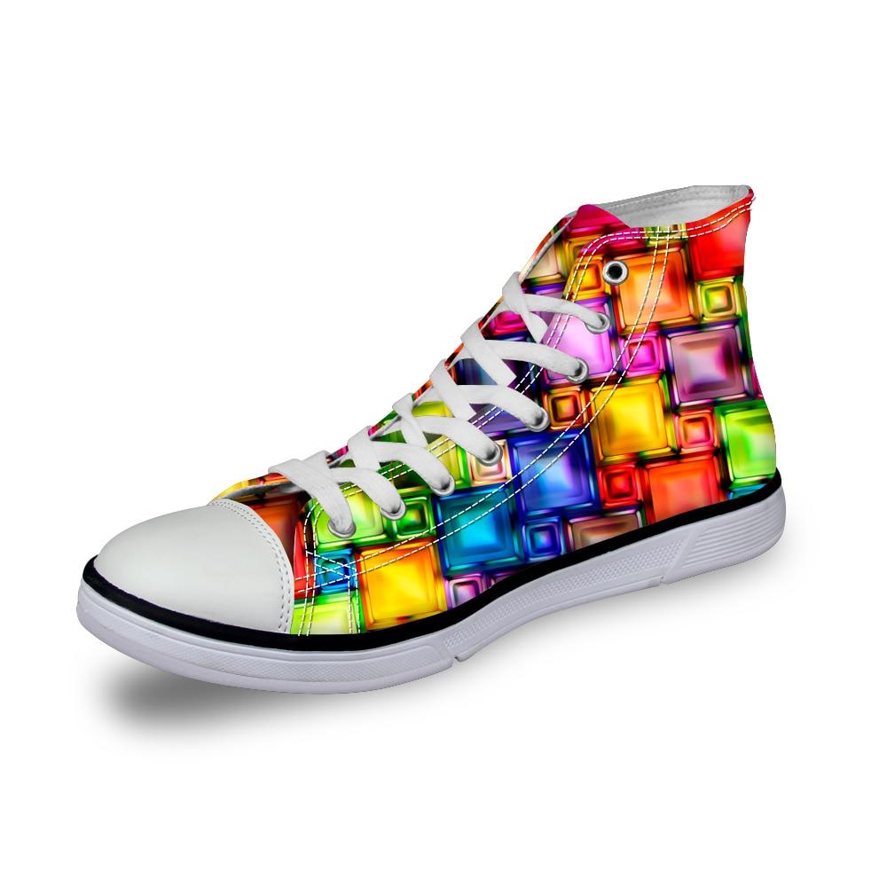 Noisydesigns Farbe Jungen Designer Schuhe 3D Druck Männer Casual - Herrenschuhe - Foto 2