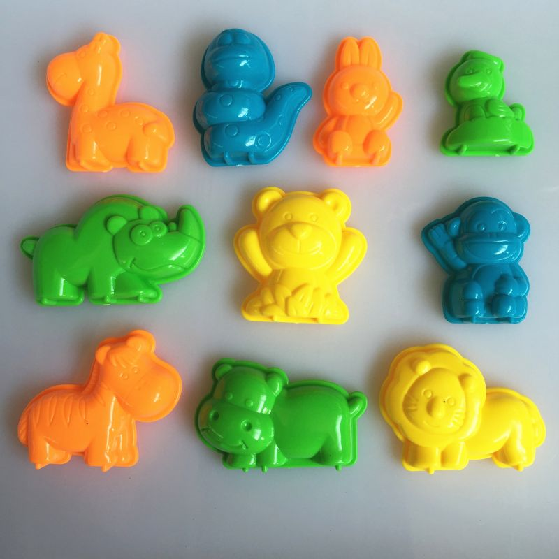 10 PCS Animals Sand Clay Tool Beach Toys Clay Mud Molding Clay For Kids Child Toys