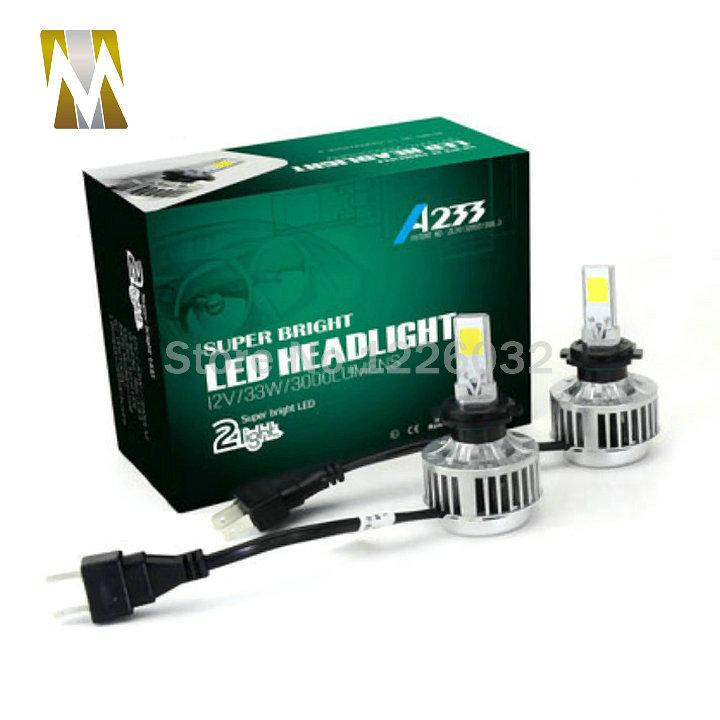 Prix pour COB LED H7 Phare De Voiture Kit 66 W 6000Lm Auto Avant Lumière H7 Brouillard ampoule 3000 K Xénon Blanc 6000 K LED Phare H8 H3 H1 H11 9005 9006