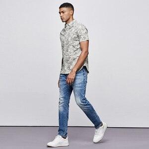 Image 2 - KUEGOU 2019 Sommer Baumwolle Camouflage Shirt Männer Kleid Casual Slim Fit Kurzarm Streetwear Für Bluse Männer Military Hemd 8817
