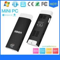 Bben Windows10 e Android os sistema dual Quad Core In-tel Z8350 wifi bt4.0 TV Box ddr3 2 GB/32 GB EMMC Mini Computer PC bastone