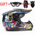 motorcycle Adult motocross Off Road Helmet ATV Dirt bike Downhill MTB DH racing helmet cross Helmet capacetes DOT moto