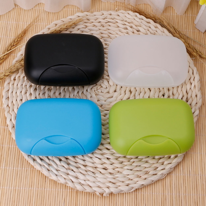 Portable Soap Case Holder Sealing Box Plate Dish Container Rack With Lid For Travel Hiking Camping Kitchen Home Bathroom Shower