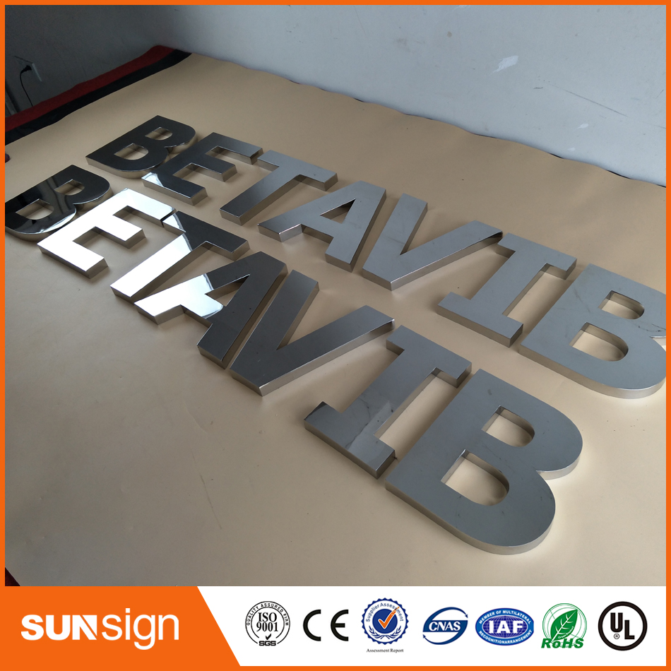 Customized Factory Outlet Panited 3d Stainless Steel Letters