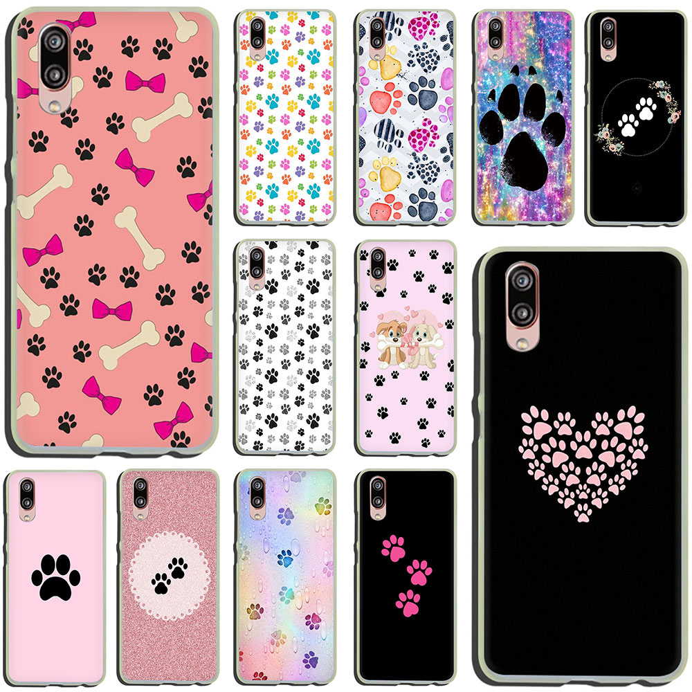 dog footprint Paw Pattern Hard Phone Case for Huawei P30 P20 P8 P9 P10 Plus Lite Mini 2015 2016 2017 Pro smart 2019(China)