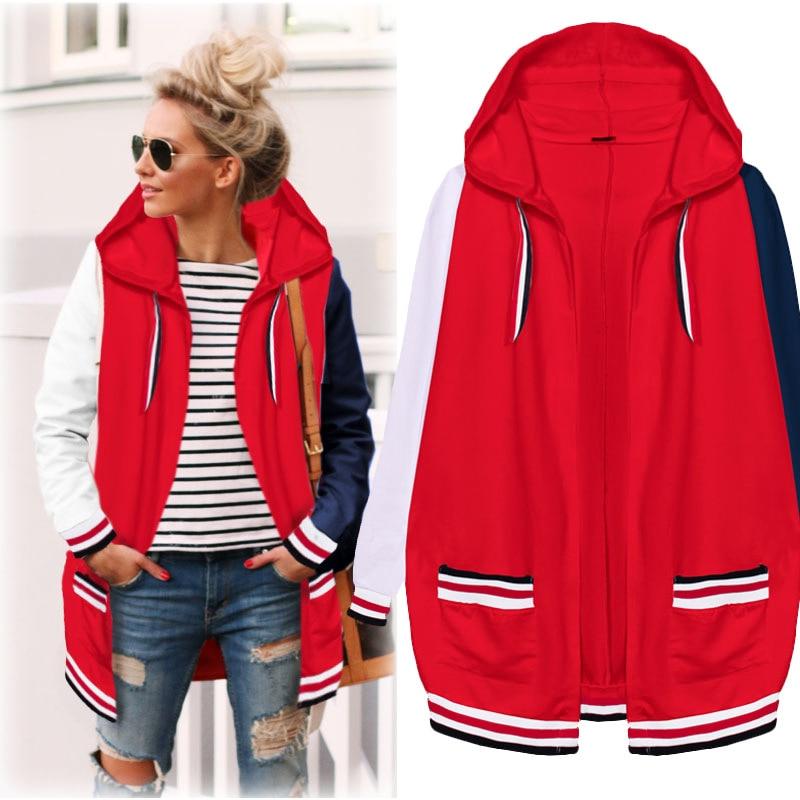 44ac52730b3 Plus Size Casual Women Coats 2019 Autumn Winter Fashion Hooded With Velvet  Elegant Jackets Loose Female