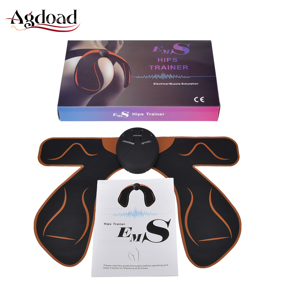 Smart EMS Women Hip Trainer Electric Hip Muscle Stimulator ABS Fitness Buttocks Butt Vibrating Exercise Massager Intelligent