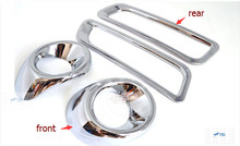 4 pcs For Mitsubishi Outlander EX 2013 2014 Chrome Front & Rear Fog Light Lamp Cover Trims