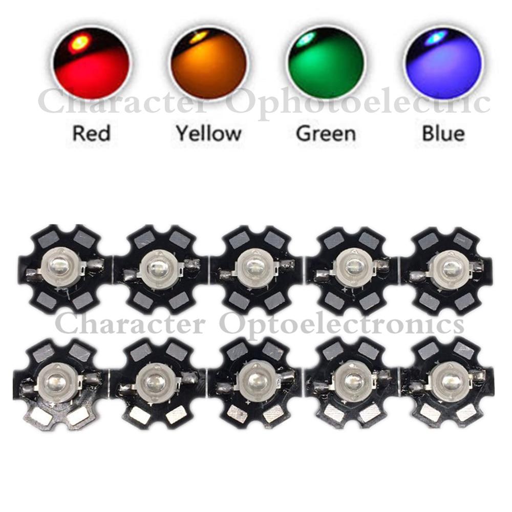 10 PCS 3 W High Power LED Chip Luz Azul Verde Vermelho Branco IR 850nm 940nm diodo emissor de luz-