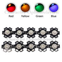 10 piezas 3 W de alta potencia LED Chip de luz blanco rojo azul verde IR 850nm 940nm diodo emisor de luz