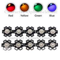 10 PZ 3 W Ad Alta Potenza Circuito Integrato del LED Luce Bianco Rosso Blu Verde IR 850nm 940nm diodi emettitori di luce