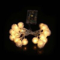 Decoration String Lights 20 Leds Acrylic Fur Balls Lamp For Indoor Outdoor Garden Christmas Party Lights CLH@8