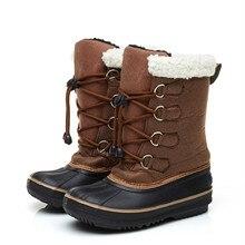 Mioigee 2018 детские зимние сапоги детские для девочек и мальчиков зимние сапоги комфорт толстые Нескользящие зимние сапоги модные спортивные хлопка мягкой обуви