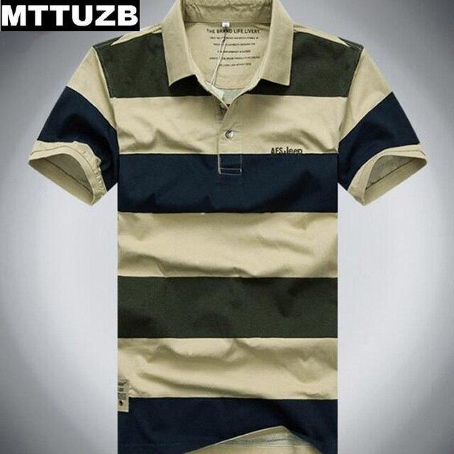 MTTUZB мужские классические полосы polo рубашки мужские летом с коротким рукавом мужской спортивной человек вскользь тис Ml XL XXL XXXL