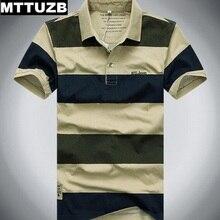 MTTUZB men classic strip polo shirts men's summer short sleeve tops male sportswear man casual slim tees M L XL XXL XXXL